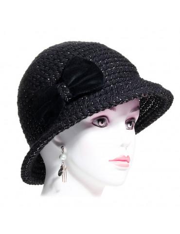 chapeau femme petit bord laine noir