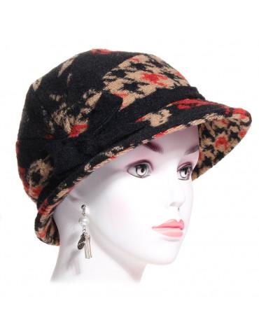 chapeau laine cloche 1900 imprimé