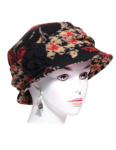 chapeau laine imprimé