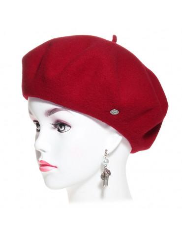 Béret laine vierge mérinos coloris rouge passion
