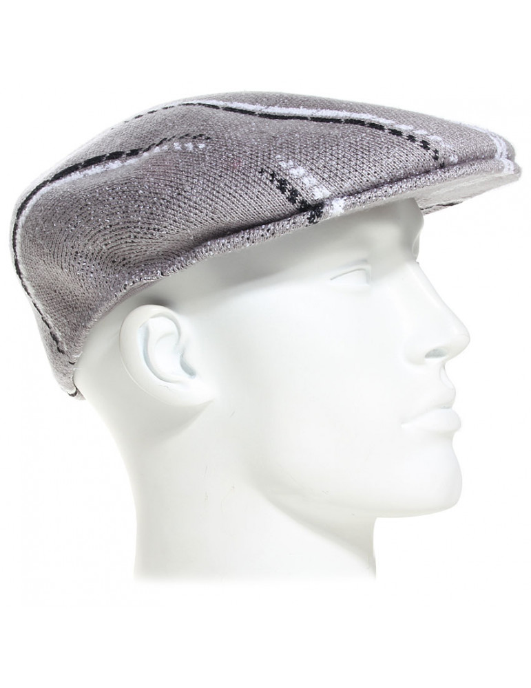 Casquette glitched 504 grise Kangol