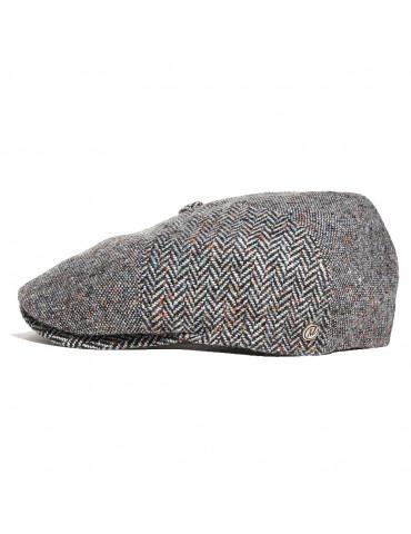 casquette en laine grise à six pans