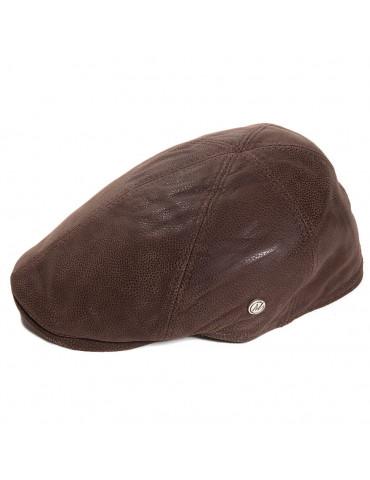 Casquette cuir marron et cache oreilles