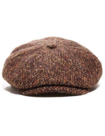 Casquette gavroche laine vierge bouclée marron M by Fléchet