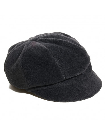 Casquette gavroche polaire grise anthracite imperméable