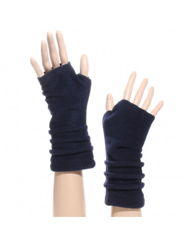 gant mitaine polaire couleur bleu marine
