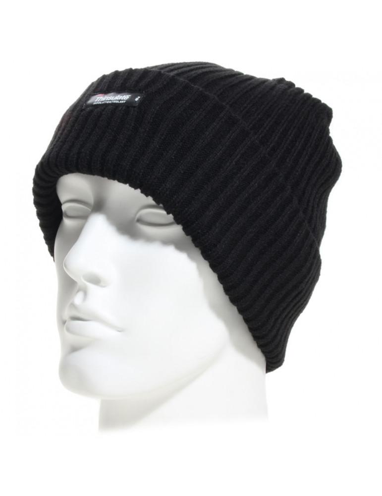 bonnet noir à revers
