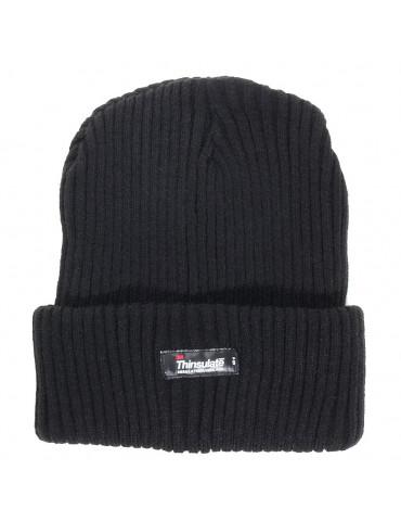 bonnet noir doublé polaire