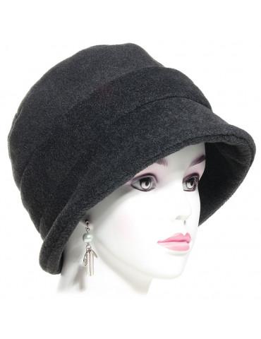 Chapeau polaire femme coloris anthracite