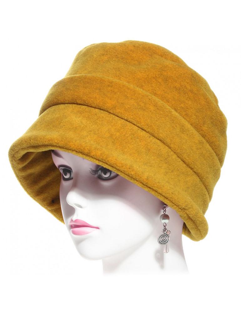 Chapeau polaire femme couleur moutarde