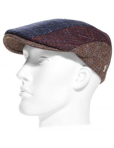 Casquette laine vierge patchwork