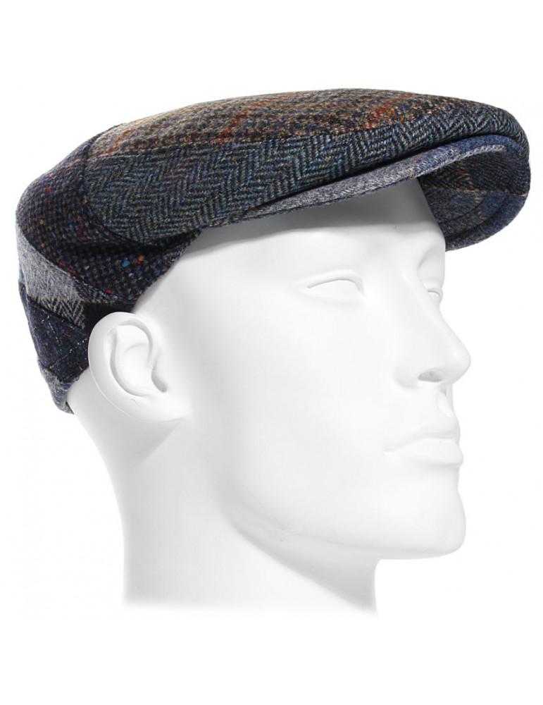 Casquette patchwork 100% laine vierge