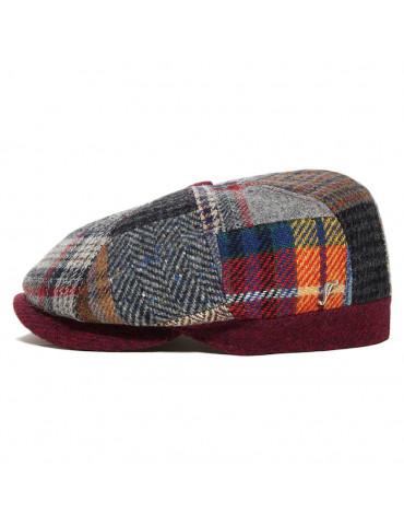 Casquette style gavroche laine patchwork