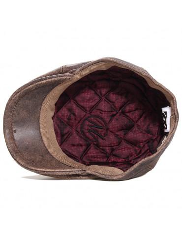 casquette cuir cuir vintage intérieur polyester marque Modissima