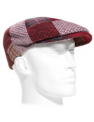 Casquette patchwork laine rouge