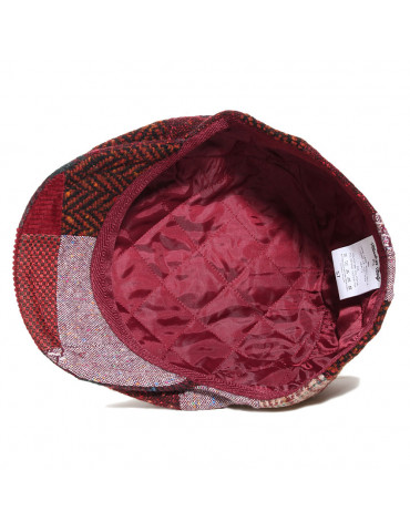 Casquette patchwork doublée polyester