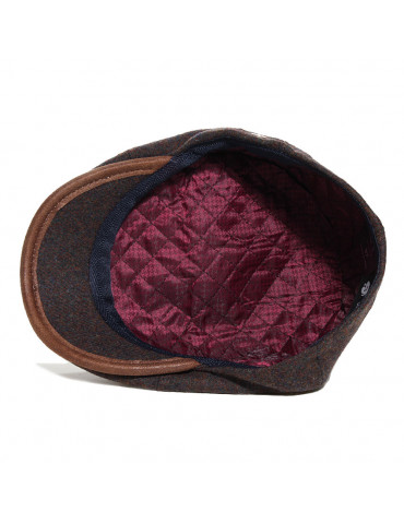 casquette laine kaki doublée polyester