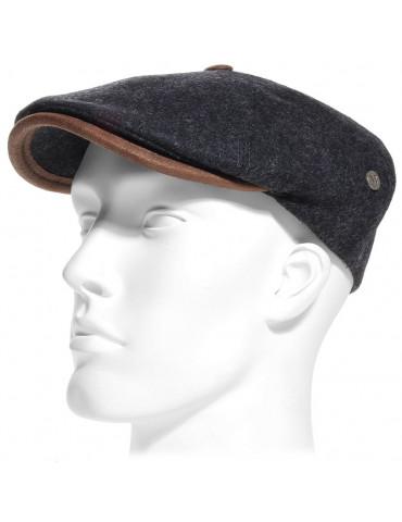 casquette laine vierge coloris noir