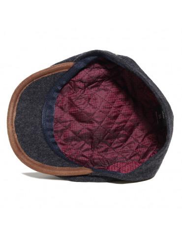 casquette laine noir avec doublure polyester