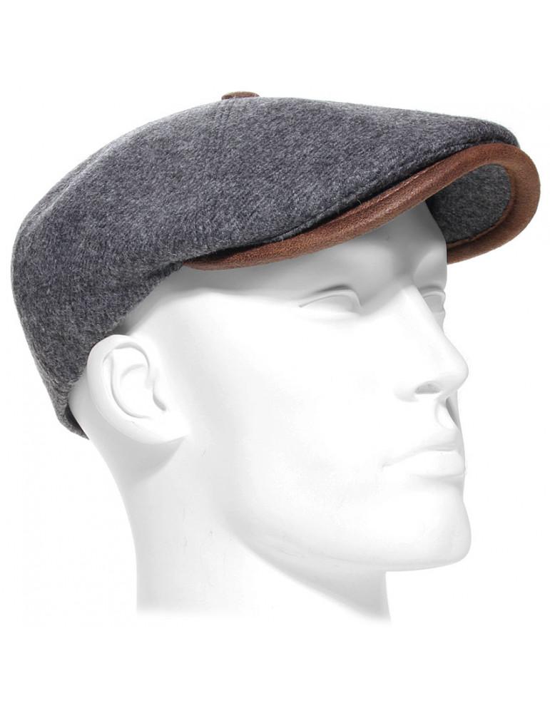 casquette laine vierge coloris gris