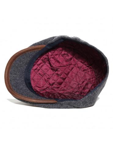 casquette laine grise doublée polyester