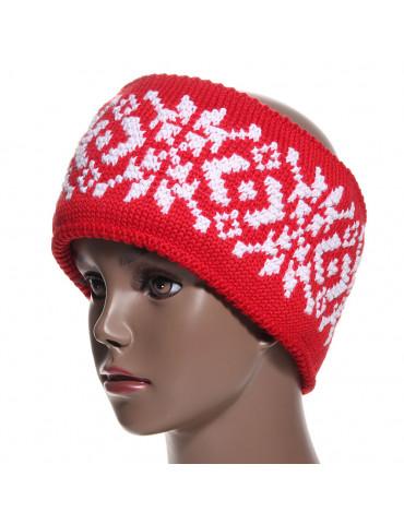 bandeau laine rouge