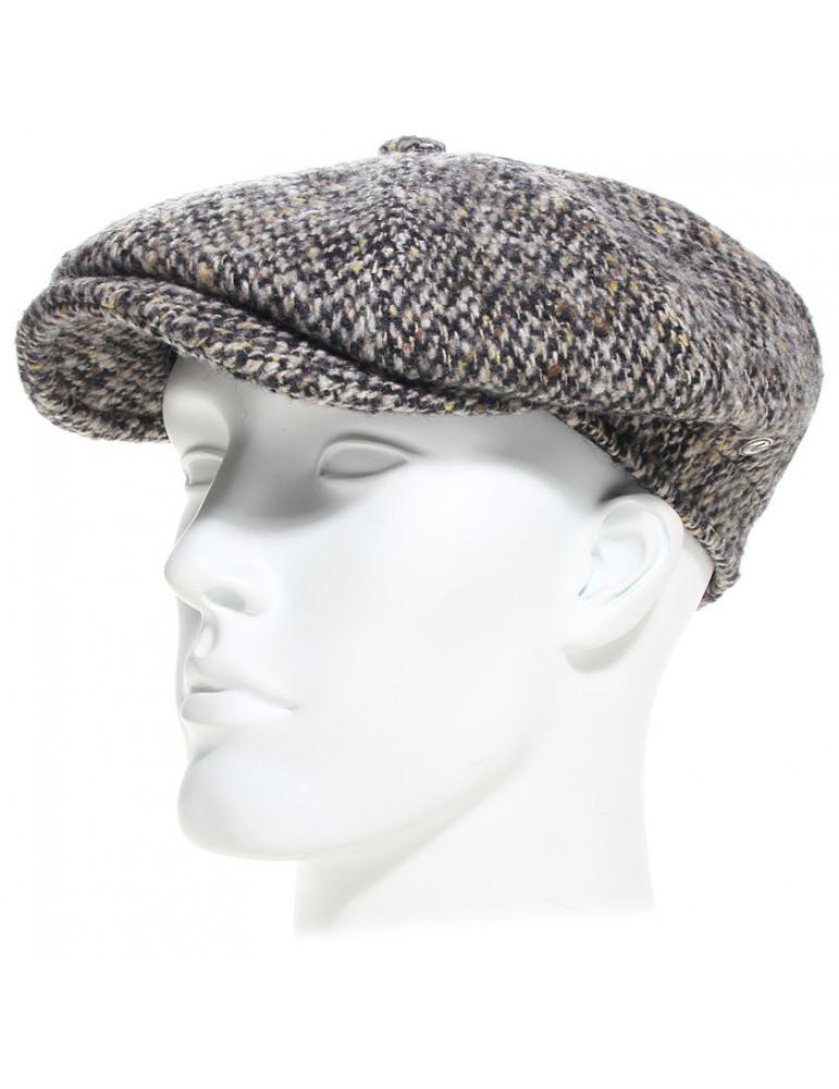 casquette gavroche laine vierge coloris gris