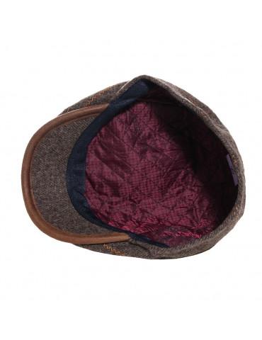 casquette hiver en laine vierge coloris marron