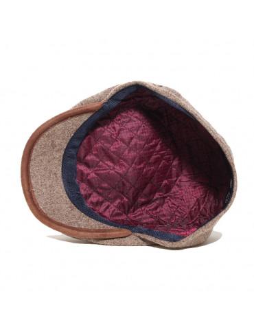 casquette 6 panneaux en laine vierge coloris taupe