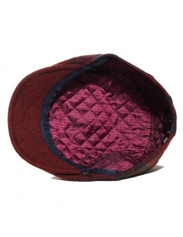 casquette laine vierge uni et carreaux