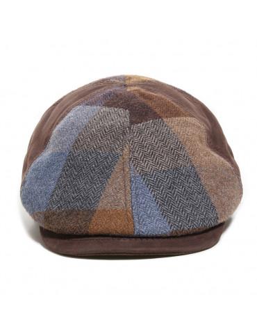 Casquette cuir et laine marron M by Fléchet