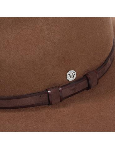 chapeau feutre 100% laine waterproof et ceinture cuir