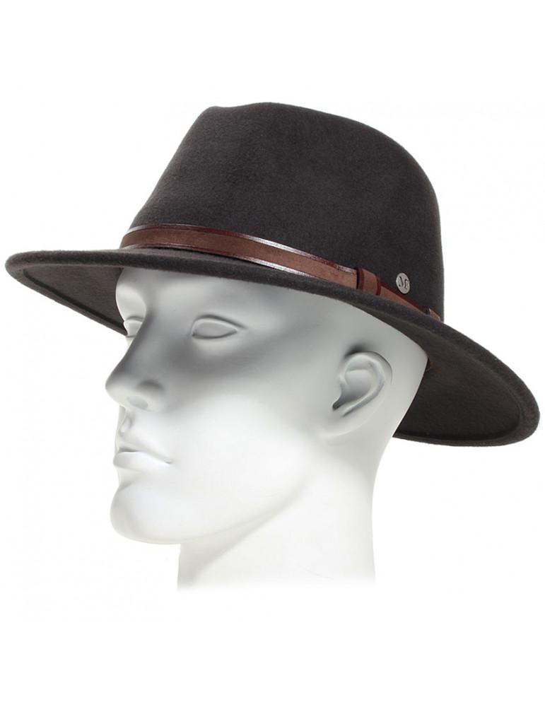 Chapeau feutre 100% laine coloris marron