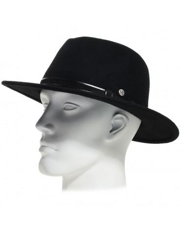 Chapeau feutre 100% laine coloris noir