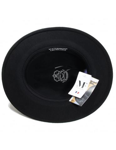 Chapeau feutre noir waterproof et crushable
