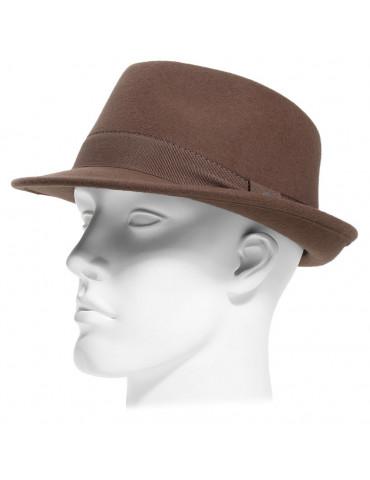 chapeau feutre style fedora coloris castor