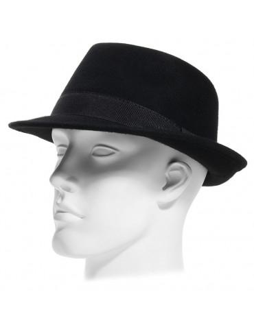chapeau feutre fedora noir petit bord