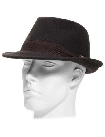 Chapeau feutre fedora coloris marron