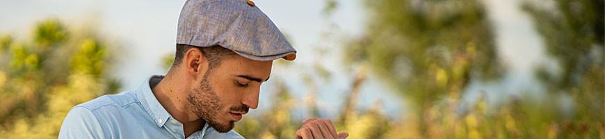 Casquette d'été pour homme en lin ou coton - Qualité