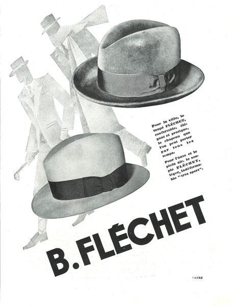 Affiche Fléchet du 21 fevrier 1931