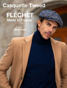 casquette tweed marque Fléchet